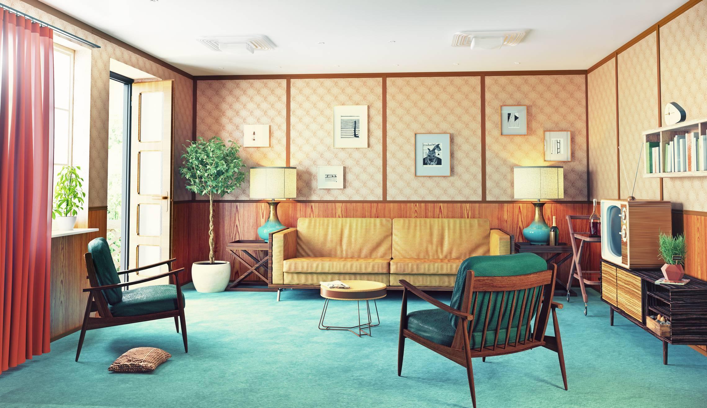 mobilier vintage salon